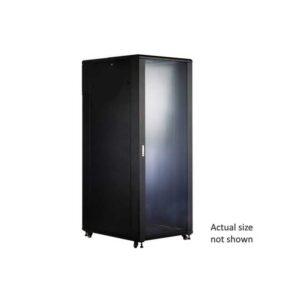 """18U 19 NETWORK FLOOR CABINET 600W x 600D - GLASS DOOR"""""""