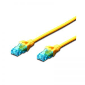 DIGITUS CAT.5e UTP PATCH CABLES - YELLOW