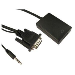 0.2M VGA & AUDIO 3.5mm JACK TO HDMI ADAPTOR (USB POWER) M-F