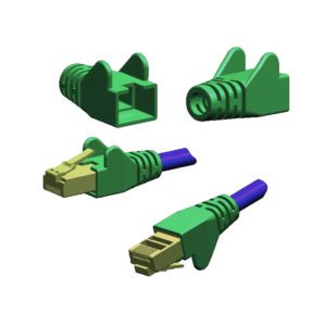 WING MOULDED SNAGPROOF RJ45 CABLE BOOT - GREEN