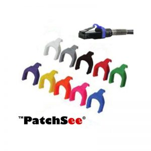 PATCHSEE PATCH CABLE CLIPS - BLACK (PACK OF 50)